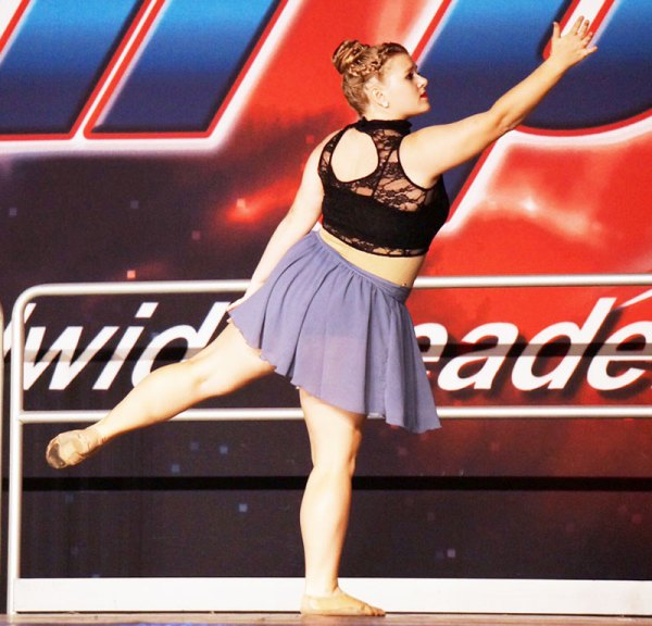 Sami performaing her solo at competition.