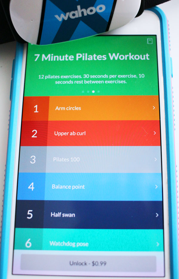 Alternate 7 minute workout for the Wahoo Tickr X heart rate monitor #Wahoo7minApp