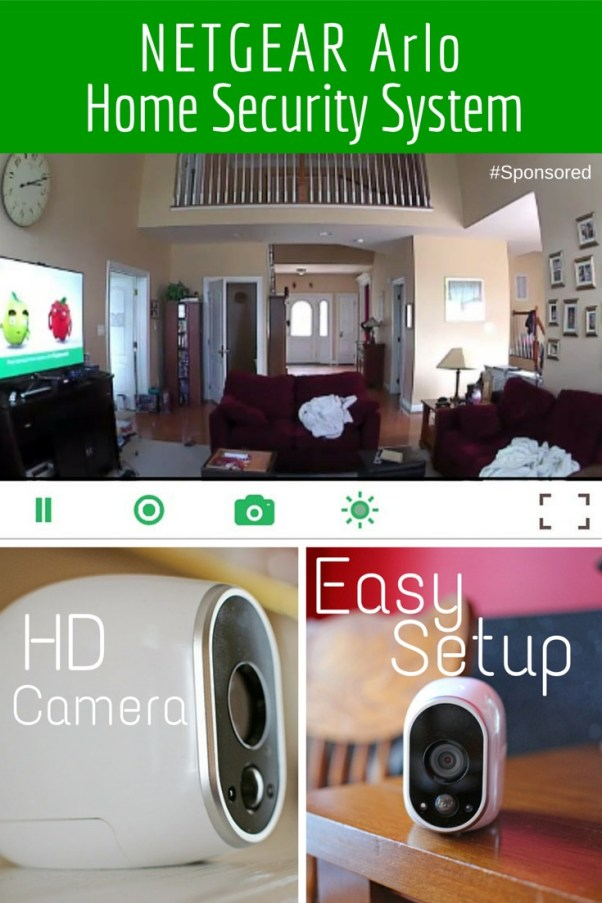 NETGEAR Arlo Home Security System with 2 cameras. Cameras are HD, wide-angle, wireless, weather and water proof. #NETGEAR Easy to setup. #Sponsored