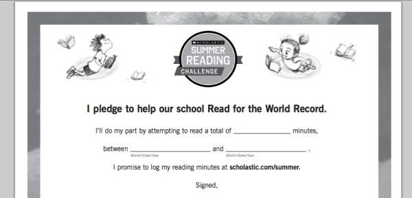 Summer Reading Challenge Goal Setting