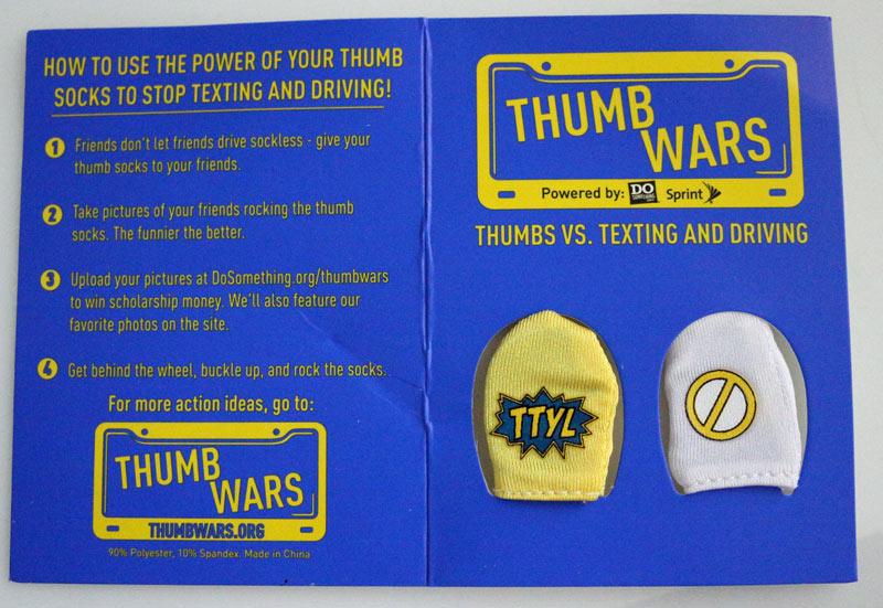 Spring & DoSomething.org Thumb Wars anti-texting campaign. #SprintMom #IC #ad