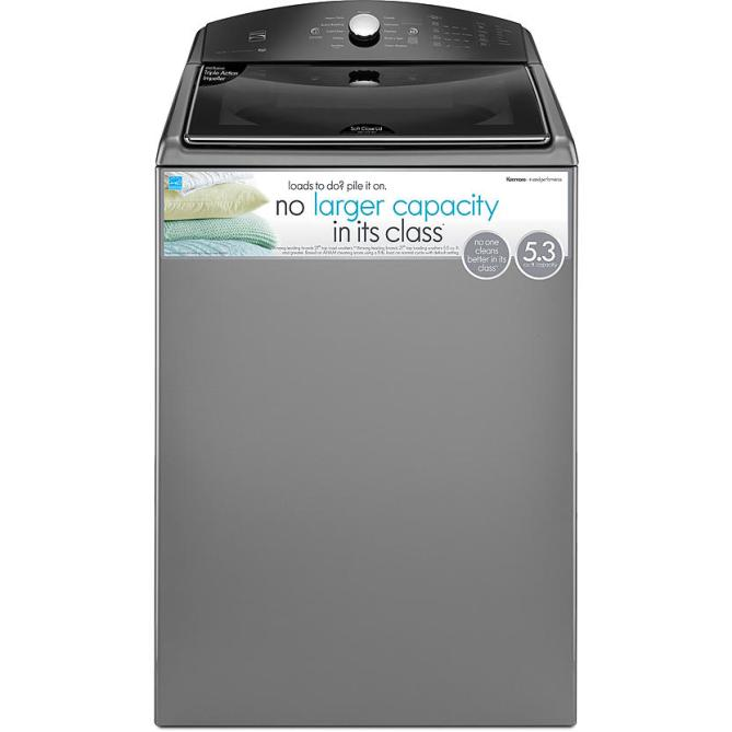 Kenmore Top Loading Washer Laundry #KenmoreCleans #GoDirtyGirl #Ad