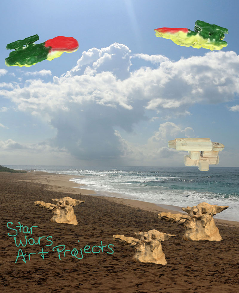 Start Wars Art Projects Digital Scrapbook Page #GoMakeThings #SproutByHP #Sponsored