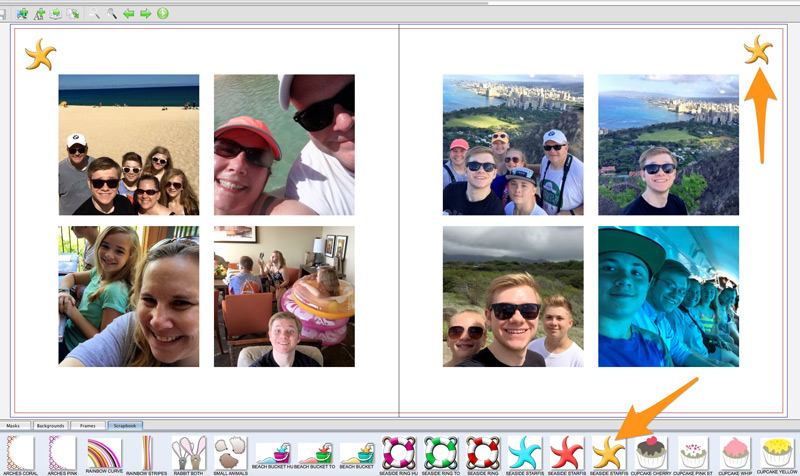 Add scrapbook extras to fit your theme