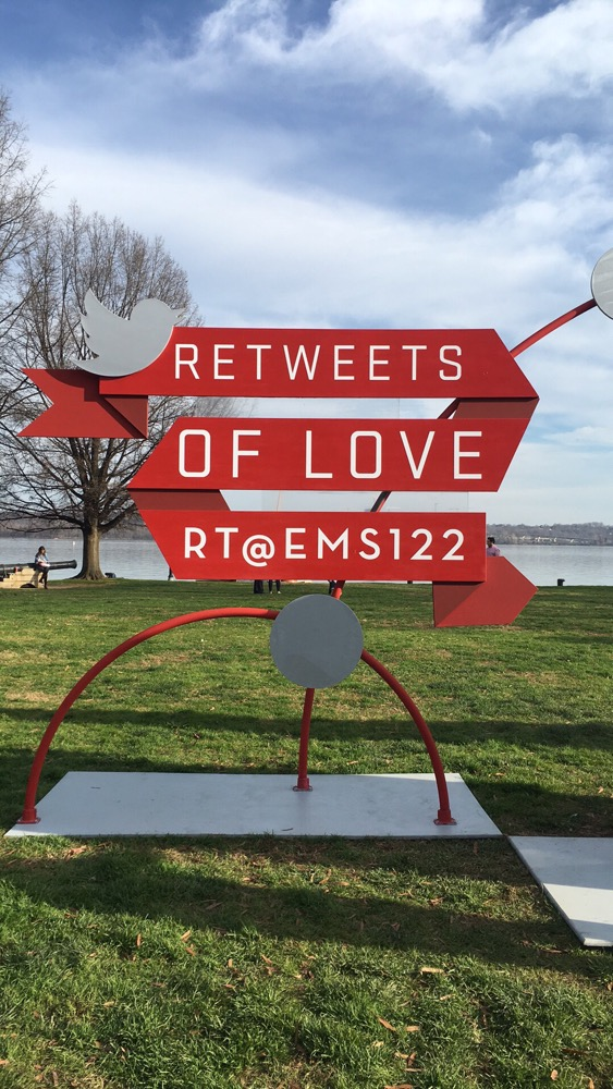 Diet Coke #RetweetsOfLove  sculpture at Waterfront Park in Alexandria, VA.