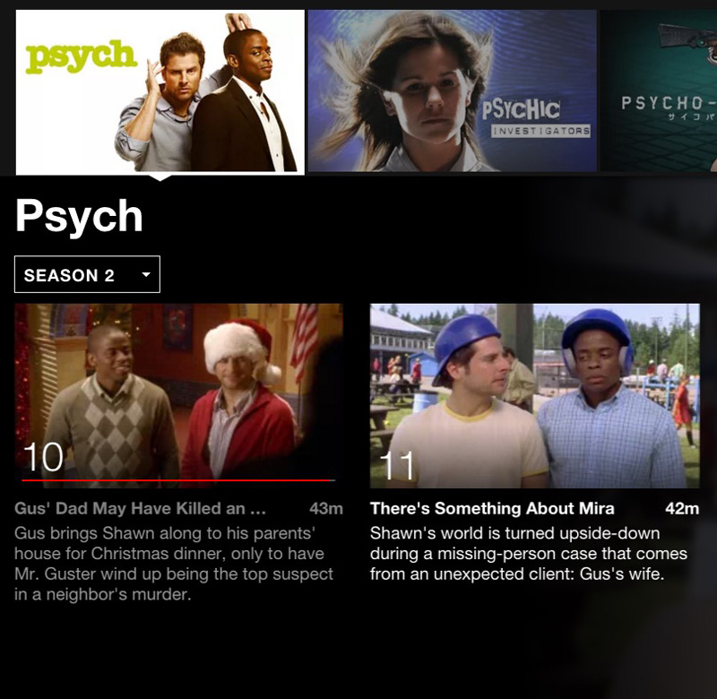 Psych Netflix binging for tween girls #streamteam
