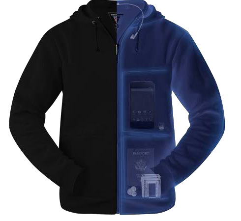 SCOTTeVEST Hoodie Microfleece with pockets for your tech; tech gift guide