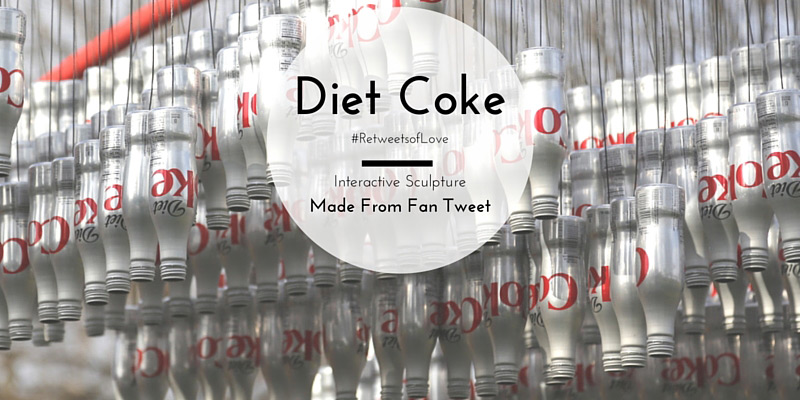 Diet Coke #RetweetsofLove campaign. Recreated a fan's tweet and brought it to life with an interactive sculpture. Waterfront Park in Alexandria, Virginia. #AD