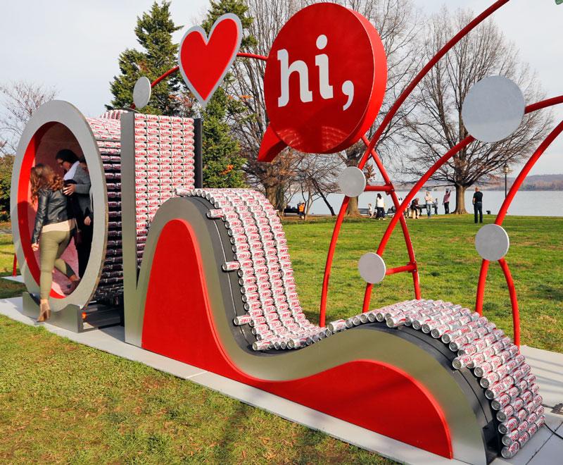 RetweetsofLove sculpture at Waterfront Park in Alexandria, VA #RetweetsofLove #AD