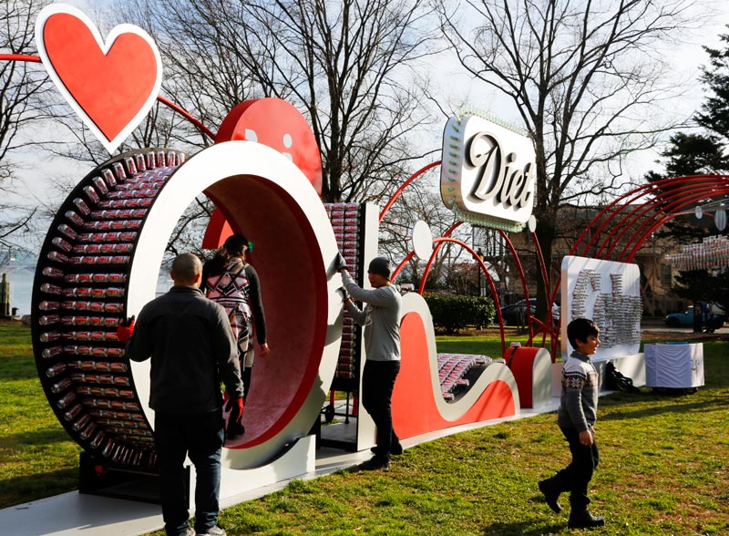Retweets of Love Diet Coke sculpture.