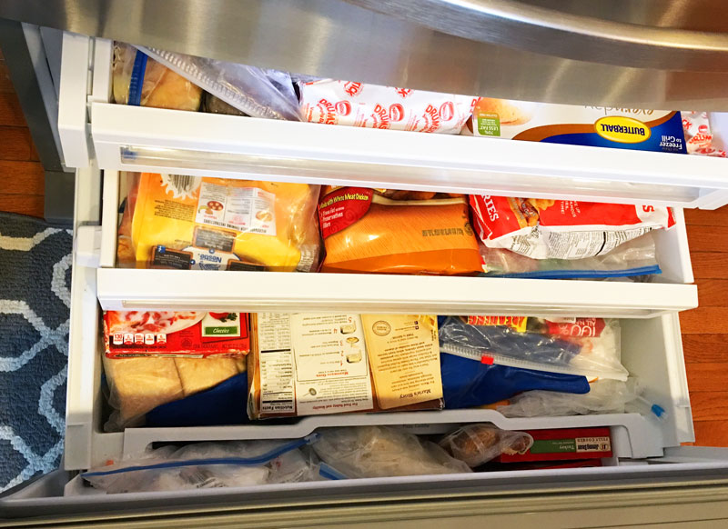 Bottom freezer in the Kenmore 72383 26.2 cu. ft. French Door Refrigerator w/ Fresh Storage Drawer