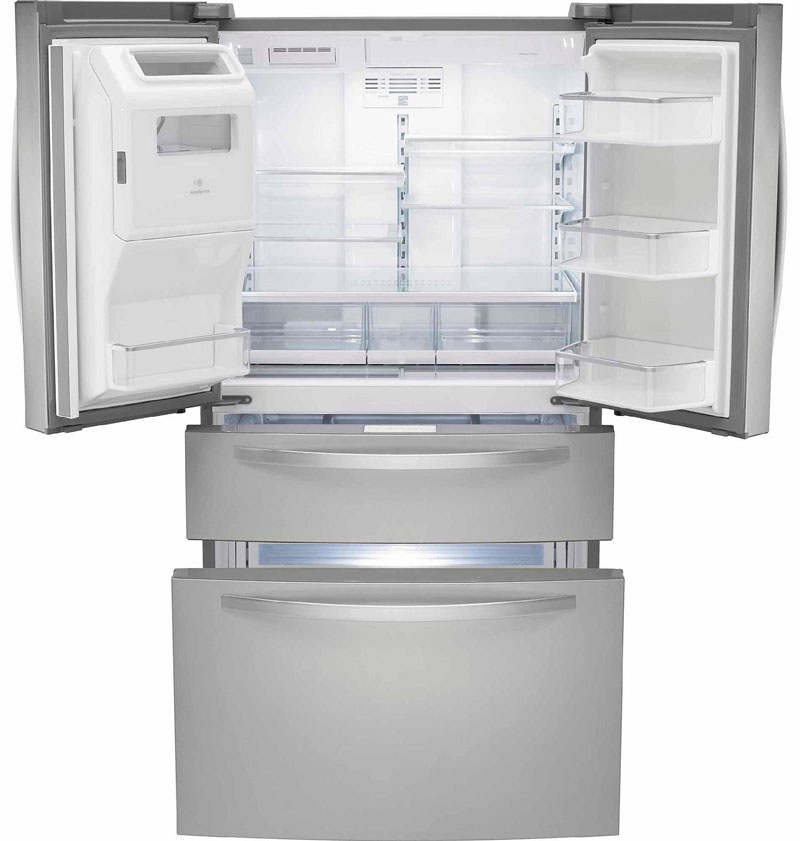 Inside the Kenmore French Door Refrigerator