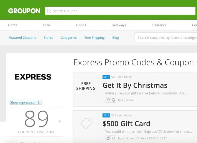 Groupon Coupon Express coupons #grouponcoupons