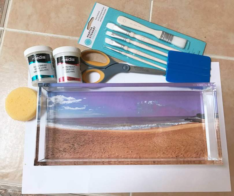 Everything you need to make a DIY photo transfer serving tray with Adobe Photoshop Elements 15.