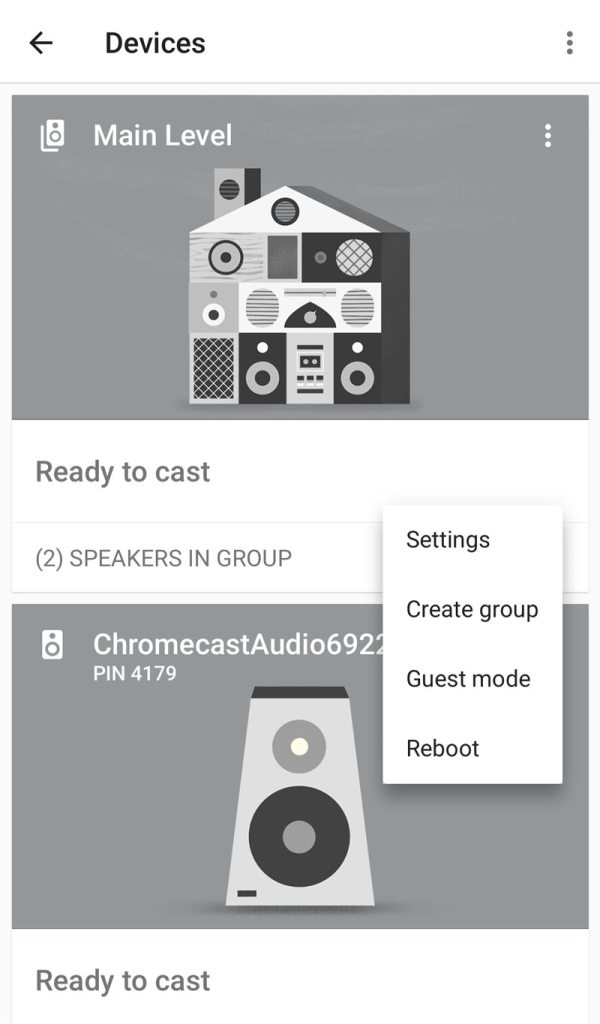 Create a group for Chromecast Audio