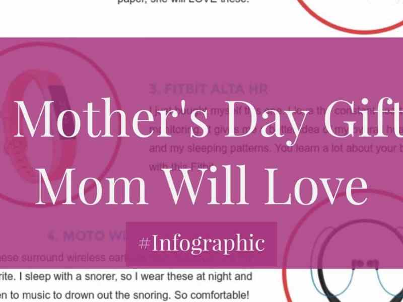 8 Mother's Day Gifts Your Mother Will Love #Infographic Mother's Day Gift Guide