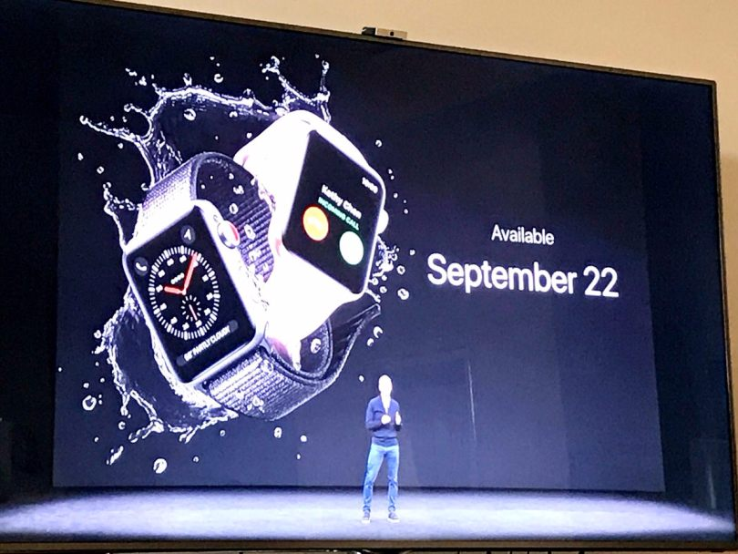 Apple Watch Series 3 announcement at the Apple Event