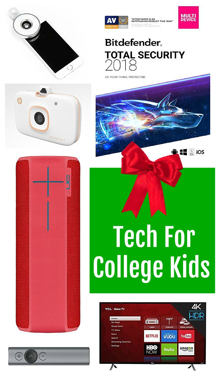Looking for gifts for your college student? Here is my 2017 Tech for College Kids Gift List #GiftList