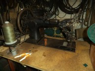 Sewing machine for sewing sails