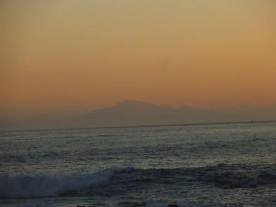 South Island at sun set
