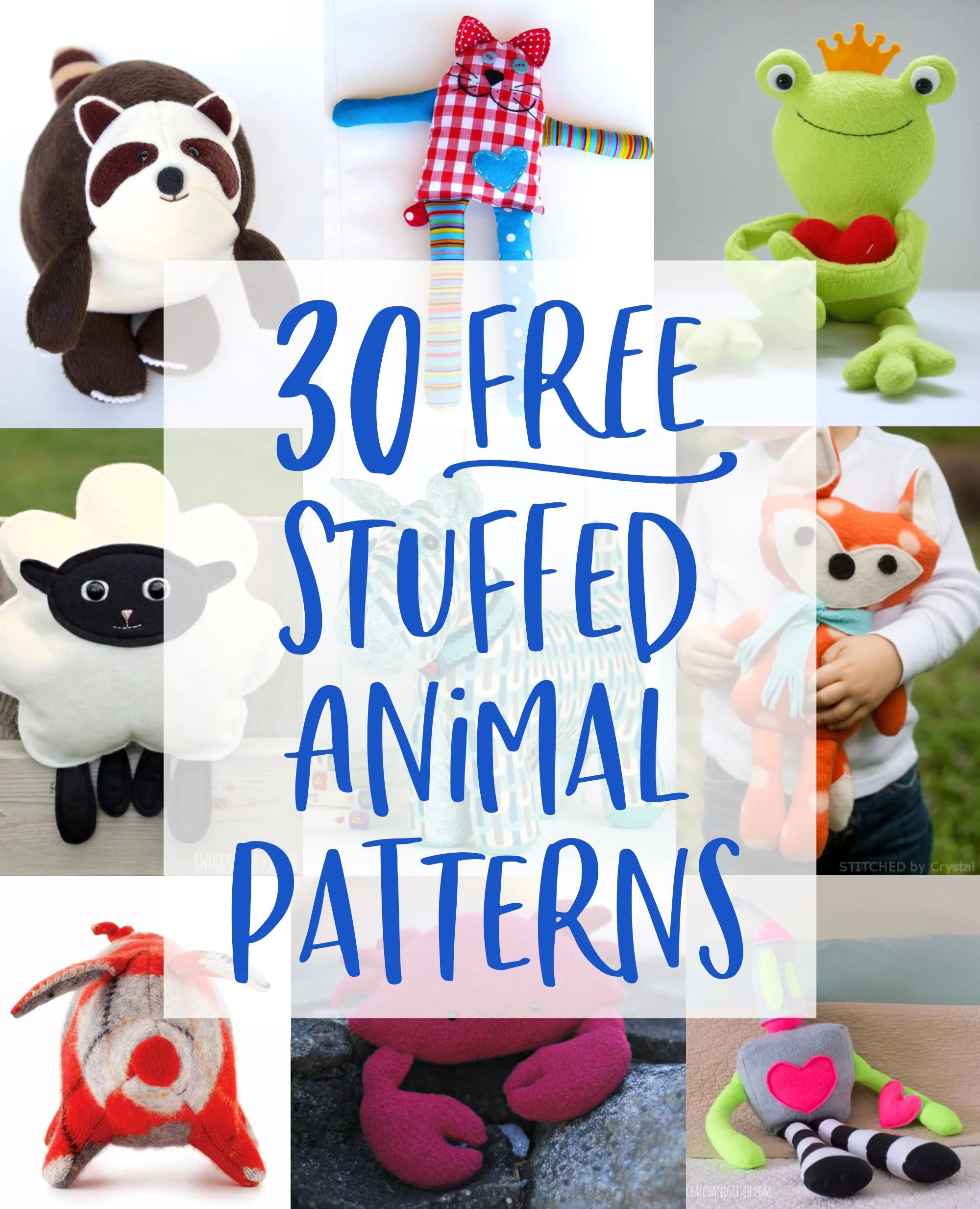 Stuffed Animal Pattern Free : stuffed, animal, pattern, Stuffed, Animal, Patterns, Tutorials, Bring