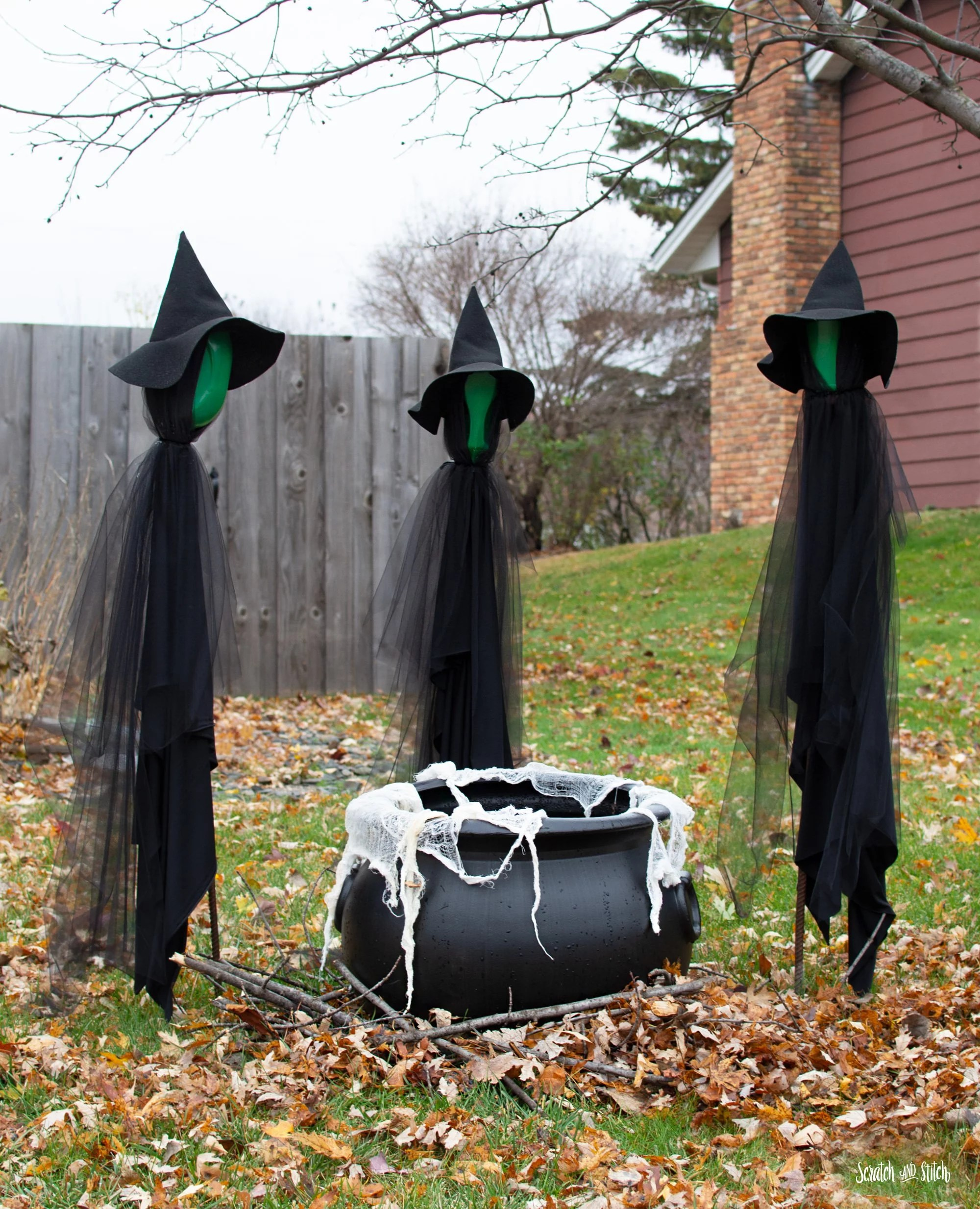 DIY Halloween Decorations Includes FREE Witch Hat Pattern