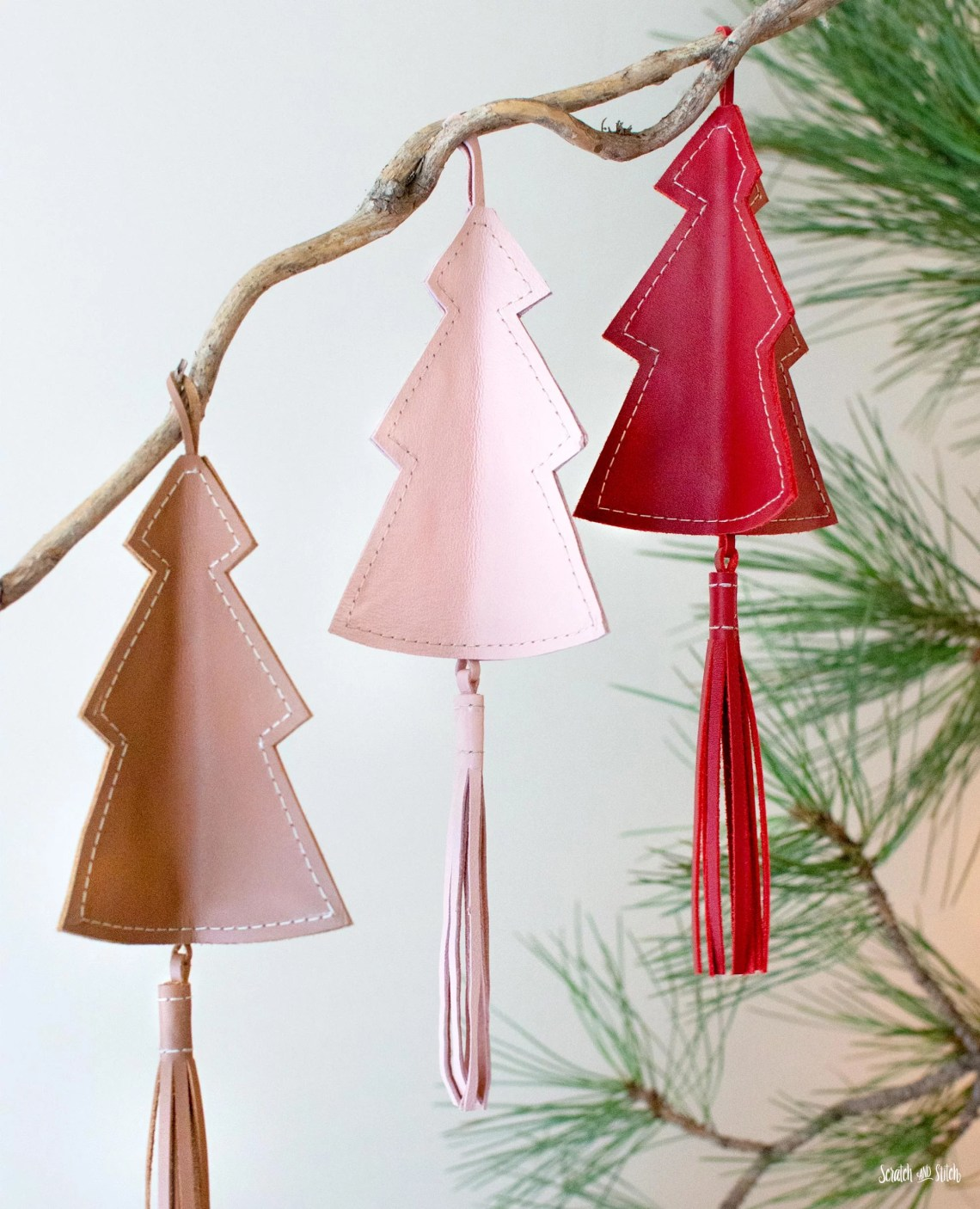 Download Leather Christmas Ornaments | Free Template and .SVG ...