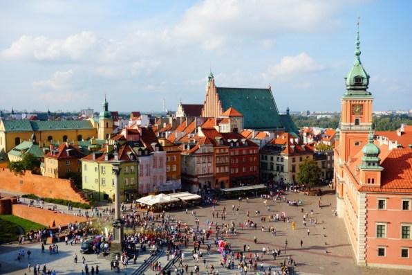 City Warschau uitzicht vanaf St Anne's church 2