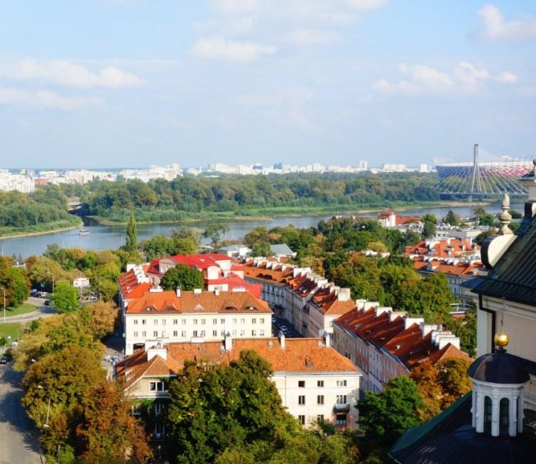 City Warschau uitzicht vanaf St Anne's church 3