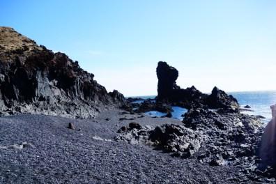 Schiereiland Snaefellsnes Djupalon zwart strand