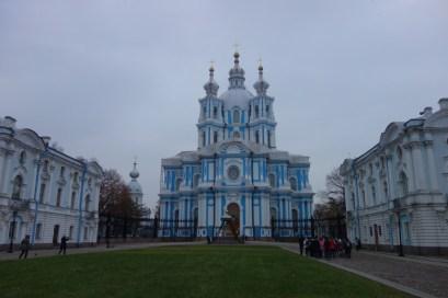 Rusland St Petersburg Smolny Klooster en Cathedraal