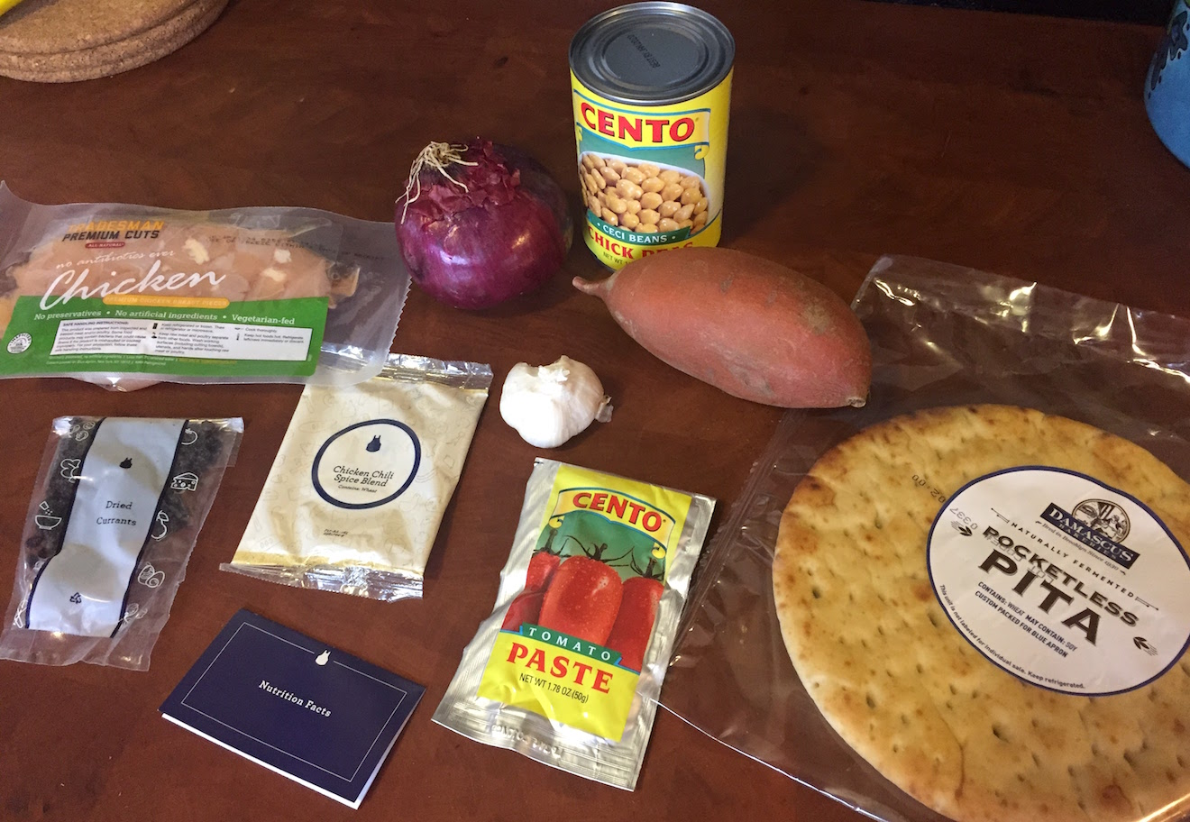 ingredients for Blue Apron Spiced Chicken Chili