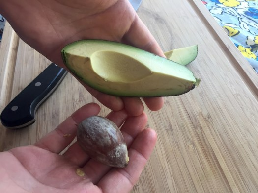 safely removing the avocado pit