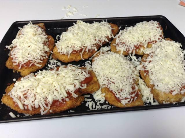Cover with mozzarella cheese & parmesan