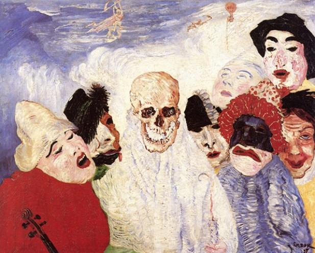 james ensor death and the masks musee de beaux art liege