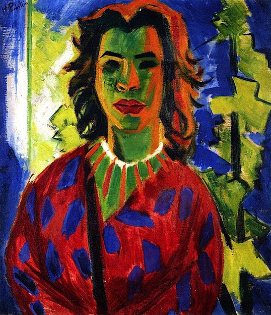 pechstein portrait of a woman