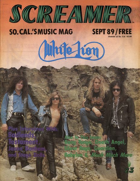 Screamer Magazine September 1989