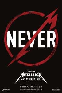 METALLICA Through The Never 3D Teaser Poster