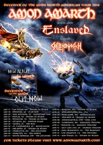 ENSLAVED with Amon Amarth - Deceiver of the Gods Tour 2014 Admat