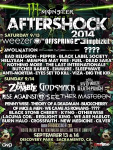 MONSTER AFTERSHOCK FESTIVAL 5-29-14