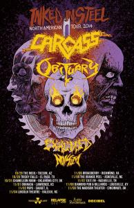 Obituary 2014 tour  poster 9-20-14