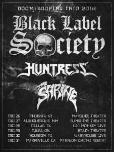BLACK LABEL SOCIETY TOUR POSTER 9-26-15