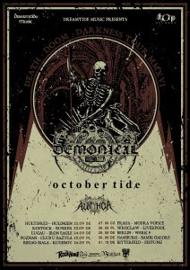 DEMONICAL AND OCTOBER TIDE - tour poster - 2-18-16