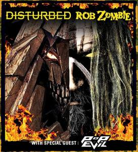 POP EVIL - [rob zombie tour poster] - 2-24-16