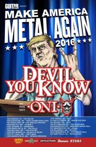 ONI - make america metal again tour poster - 4-18-16