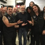 L-R:  Anthrax's Charlie Benante, Scott Ian; Robert De Niro;  Anthrax's Joey Belladonna, Frank Bello and Jon Donais Photo courtesy of Charlie Benante