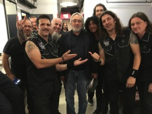 L-R: Anthrax's Charlie Benante, Scott Ian; Robert De Niro; Anthrax's Joey Belladonna, Frank Bello and Jon Donais Photo courtesy of Charlie Benante