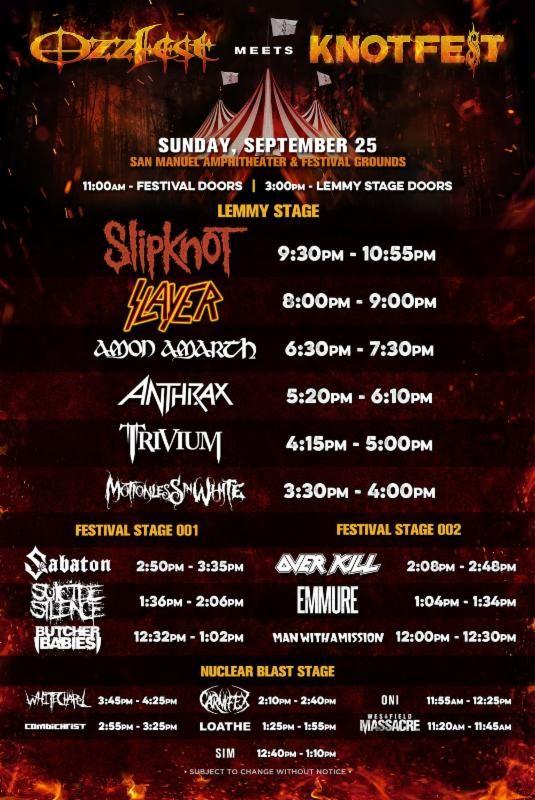 Ozzfest Meets Knotfest Poster 3