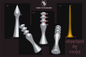 the sex toys I designed myself on made to pleasure