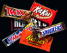 A snack deal is available for purchase and consists of candy, chips, and cold beverages.